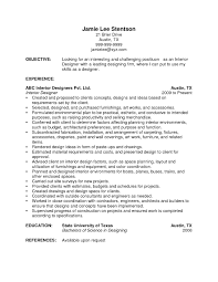 Interior Design Resume Examples Career Objective For Interior ...