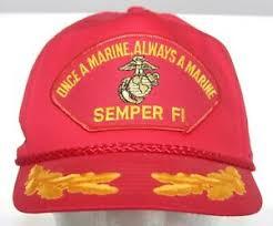 Once A Marine Always A Marine Details About Vintage Once A Marine Always A Marine Semper Fi Red Snapback Cap Laurel Leaf Hat