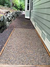 i d also like to avoid planting grass or installing artificial grass gravel would be best