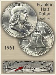 1961 Half Dollar Value Chart 1961 Franklin Half Dollar Value Discover Their Worth