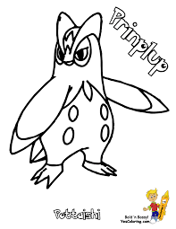 Small Picture Pokemon Piplup Coloring Pages Free Coloring Page