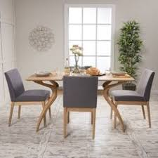 for kwame mid century rectangle dining set by christopher knight home get free delivery at overstock your furniture