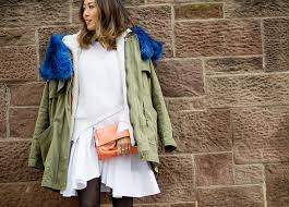 aimee blue faux fur military jacket diy
