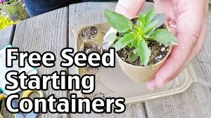 free garden seed starting containers
