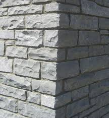 black ledge cultured stone for wall