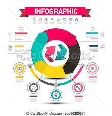 Infographic Vector Design With Arrows Data Flow Chart With Icons And Sample Texts Five Steps Infographics Layout