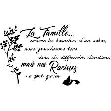 Sticker Citation La Famille Comme Les Branches Dun Arbre