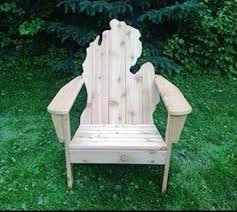 michigan shaped adirondack chair love these chairs my neighbor makes them