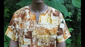 Devita Designs Devita Designs Handmade Men Egyptian Hieroglyph Shirt Organic Natural 100 Cotton Oneofakind Top