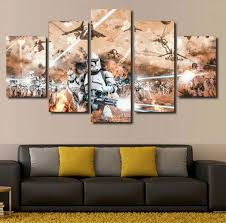 5 panel printed star wars movies painting children  on star wars canvas panel wall art with sick star wars canvas prints for your wall spikey bits