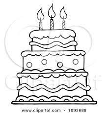 Image Result For Birthday Cake Drawing Easy Cake Drawing Cake