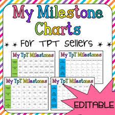 Literacy Milestones Chart Milestones Chart For Tpt Sellers