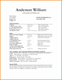 Special Skills For Acting Resume actor resume template teller resume sample 46