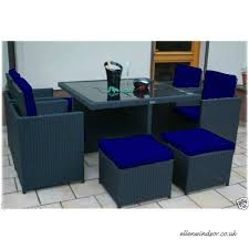blue replacement seat cushions for 8 piece outdoor patio furniture set b01de0s4uu