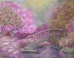 purple fantasy garden acrylic painting tutorial angelafineart acrylicpaint art you tutorial
