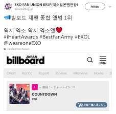 Billboard Japan Album Chart Exo Chart Records Exo Countdown Debuts No 1 On