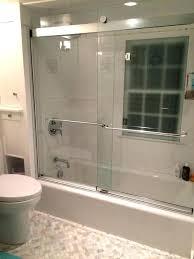 delta sliding shower doors semi contemporary sliding shower door in rh factos com co bathtub installation diagram guide bathtub installation on concrete