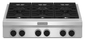 kgcu467vss kitchenaid 36 commercial gas 6 burner cooktop stainless steel