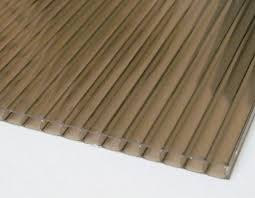 6mm twin wall thermoclear polycarbonate panel bronze