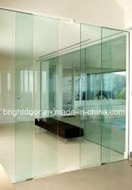 china frameless glass door system all