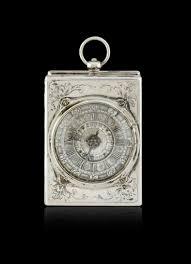 Orologio da carrozza tedesco in argento, firmato Burkhardt, periodo fine  '700 circa - Asta Orologi - Associazione Nazionale - Case d'Asta italiane