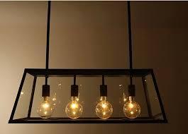 edison bulb pendant lighting. Exellent Bulb RH Metal Glass Box Shape Edison Bulbs Pendant Lighting Modern Filament  Chandelier To Bulb