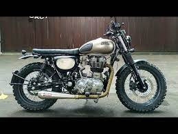 royal enfield 350cc into scrambler by