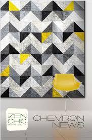 Chopsticks - by Jaybird Quilts - Modern Patchwork Quilt ... & Chevron News - by Zen Chic - Modern Patchwork Quilt Pattern Adamdwight.com
