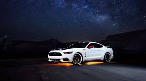 mustang wallpaper 1920x1080. Fine Wallpaper 1920x1080 Wallpaper Ford Mustang White Side View Night On Mustang D