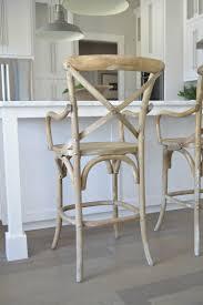 x back wooden bar stool white kitchen carrara marble rh pendants 2