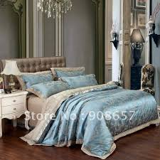 queen bedding sets blue jacquard embroidered duvet covers set for queen or king comforter jpg decorate my house