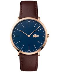 lacoste men s moon brown leather strap watch 40mm 2010871 lacoste men s moon brown leather strap watch 40mm 2010871