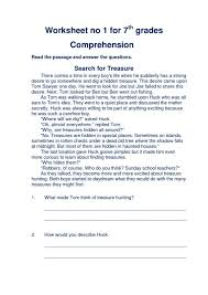 Reading Worksheets For 7th Grade. Reading. Stevessundrybooksmags ...