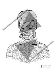 Small Picture Adult Coloring Pages Coloring for adults David Bowie Mosaic