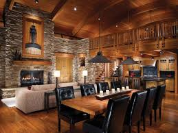 industrial style dining room lighting. Decoration Attractive Log Cabin Living Room Ideas Using Industrial Style Ceiling Lights Above Rectangular Dining Table Lighting N