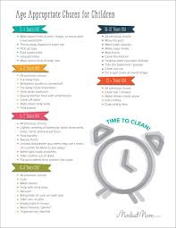 Daily Routine Chart For 9 Year Old Free Printable Age Appropriate Chores For Children