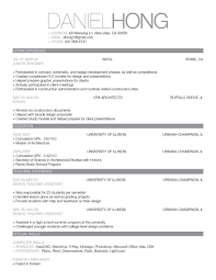 Simple Resume Template Simple Resume Templates For Highschoolents Download Template Vol 23
