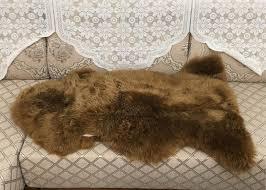 australian sheepskin rug soft genuine natural merino care cleaning guide 2 x 3ft dark brown