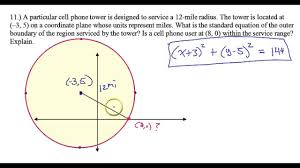 day 3 hw 11 circle word problem is the cell phone inside the range of coverage