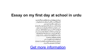 essay on my first day at school in urdu google docs