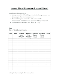 Blood Pressure Template Create Your Chart With Free Excel