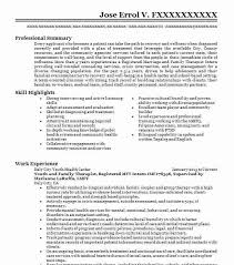 10123 Mental Health Resume Examples Community And Public Service