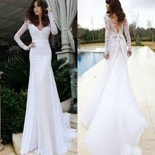 top sedding sexy wedding dresses fitted mermaid v neck illusion