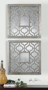 black metal mirror wall decor luxury wire art abstract inside uk ar