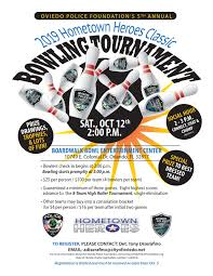 Bowling Event Flyer 2019 Bowling Tournament Oviedo Police Foundation