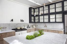 kitchen island with a touch greenery at its heart design blakes london