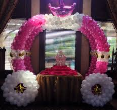 Princess Balloon Decoration Princess Party Theme Princess Balloon Columns Princess Balloon Arch