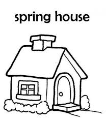 House Of Spring Coloring Page | Spring Coloring pages of ...