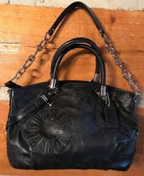 NWT COACH  16356 Madison Embellished Leather Sophia - black  498