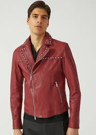 emporio armani leather biker jacket leather jacket man f